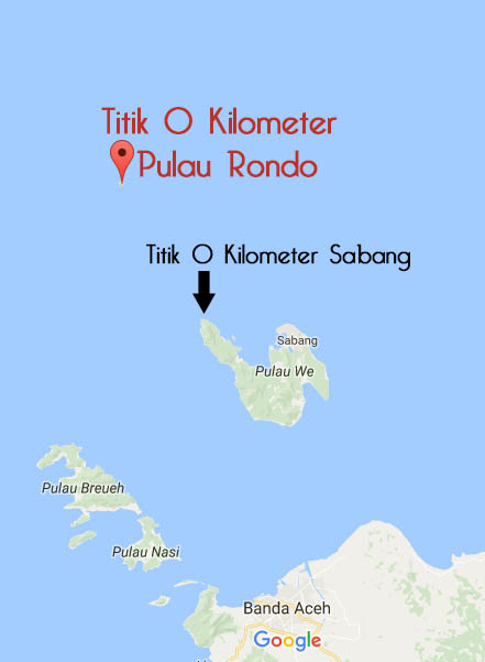 Lokasi Pulau Rondo titik 0 kilometer sabang